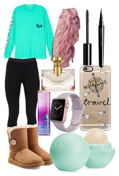 """""""Southern Mint Green"""" by flawlessnifemi28 ❤ liked on Polyvore featuring Victoria's Secret, Peace of Cloth, UGG Australia, Casetify, Eos, Chanel, Marc Jacobs and Bulgari"""