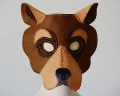 Bear Mask PDF Pattern by oxeyedaisey on Etsy
