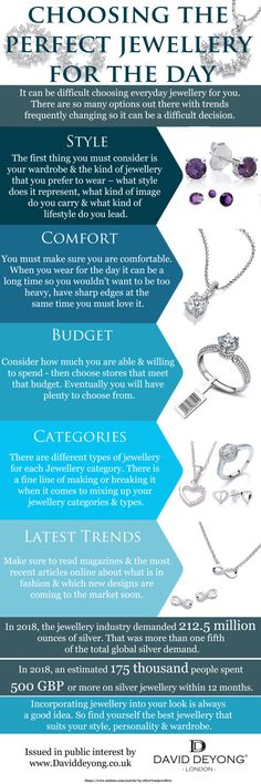 Incorporating jewellery into your look is always a good idea. So find the best jewellery that suits your style, personality & wardrobe. Jewelry Branding, Sterling Silver Jewelry, Personality, Women Jewelry, Jewellery, Suits, Day, Leather, Style