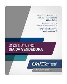 Dia da vendedora #unigloves #redatora #diadovendedor #vendedora Redatora Patricia Schmidt - Commcepta Brand Design