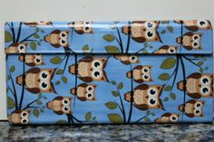 Duct Tape Wallet (Clutch) - Night Owl, $18. We are also on Etsy at: www.junorduck.etsy.com.