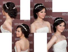 Asian bridal makeup and hair updo, Toronto, GTA