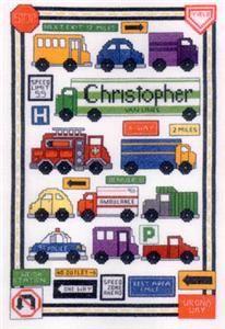 Traffic Sampler Cross Stitch Pattern