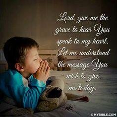 Prayer every morning
