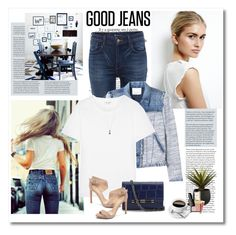 """""""Good jeans"""" by yexyka ❤ liked on Polyvore featuring Chanel, Levi's, Rebecca Taylor, Yves Saint Laurent, Diane Von Furstenberg, Vince Camuto, CB2, Daniela Villegas and highwaistedjeans"""