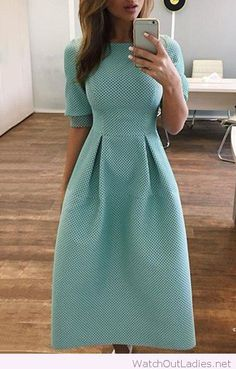 Perfect aqua chic dress for teachers - #bllusademujer #mujer #blusa #Blouse