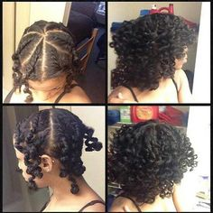 Twist out variation
