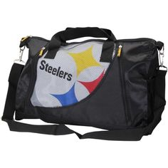 Women's Pittsburgh Steelers Mesh Pocket Duffel Bag