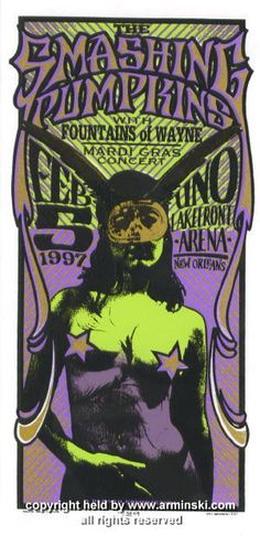 1997 The Smashing Pumpkins NOLA handbill by Arminski (MA-9703)