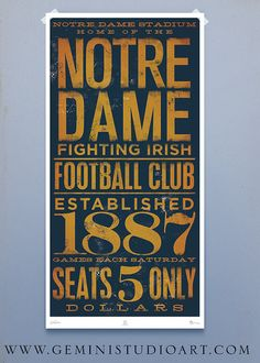 vintage ND...if only student tix were this cheap! guys had it better in 1887 than we do now!
