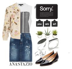 """""""Anastazio-casual Chic."""" by anastazio-kotsopoulos ❤ liked on Polyvore featuring Rupert Sanderson, Casetify, Nearly Natural, Alexander Wang, Dsquared2 and Needle & Thread"""