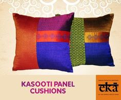 Kasooti Panel cushions - new colours and new stocks now at Eka.