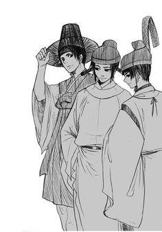 Yong-Soo, Yao, and Kiku - Artist unknown