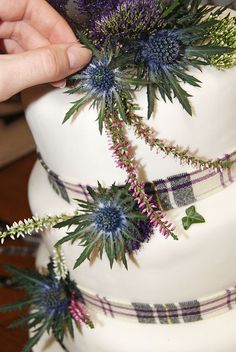 Scottish Wedding Cake by Rosie Maguire, via Flickr