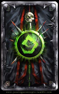 ArtStation - Warlock Theme CardBack, Jose Vega