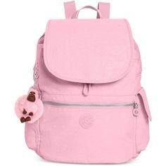 Kipling Ravier Backpack ($93) ❤ liked on Polyvore featuring bags, backpacks, backpack, dots spring pink combo, day pack backpack, nylon backpacks, travel bag, pink backpack and kipling bags