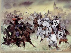 Liegnitz, 1241. Illustration d'Angus Mc Bride.