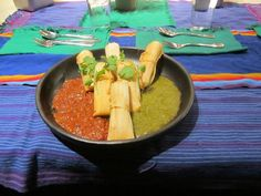 Chorizo tamales with read and green chile prepared by the November 2014 crew!