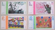 Bristol Pound Souvenir Paper Full Note Set by various artists