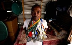 """Soweto security guard turns athlete, gets silver at London Marathon - Times LIVE - Great Tribute to Stephen Muzhingi  He said pointing at a picture of his idol - Zimbabwean runner Stephen Muzhingi - on the family's fridge: """"I hope to get enough funding to go to the New York marathon next year or the year after. There is nothing stopping me."""
