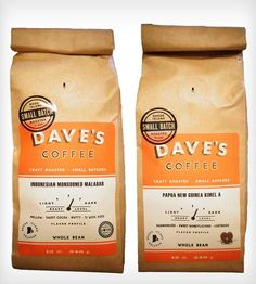 Island Coffee Beans 2-Pack - Papua New Guinea & Indonesian by Dave's Coffee on Scoutmob Shoppe. Dave's Coffee - local RI business, locally roasted beans. Great coffee!