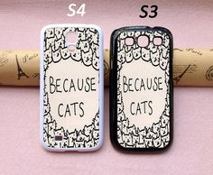 Samsung Galaxy S5 case Cat Galaxy S4 caseGalaxy S3 by totogift, $6.90