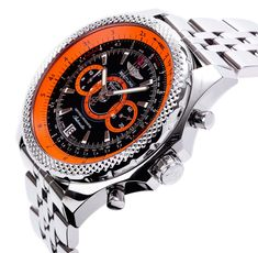 Breitling for Bentley Limited Edition Supersports Black & Orange Chronograph watch