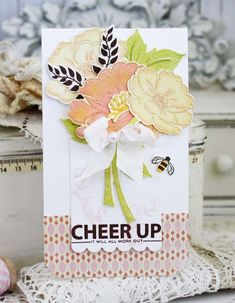 Cheer Up Card by Melissa Phillips for Papertrey Ink (July 2015)