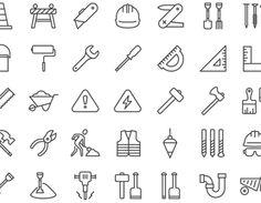 集めにくいアイコン素材 Free iOS8 construction icons