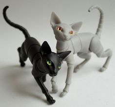 "dollstowishfor: "" 5cm Evethecat Doll Cat doll comes with a pair of eyes • Version: fully assembled or ready to be assembled • Resin Options: black, white, light grey, taupe • Eye Colour: gray, red, orange, yellow, green, emerald, celadon, torquoise,..."