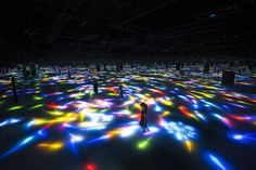 Drawing on the Water Surface Created by the Dance of Koi and People - Infinity | teamLab / チームラボ
