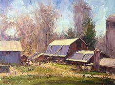 Nolan's Farm by George Van Hook Oil ~ 16 x 20