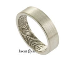 The Original Fingerprint Ring with Wrapped Print on by fabuluster