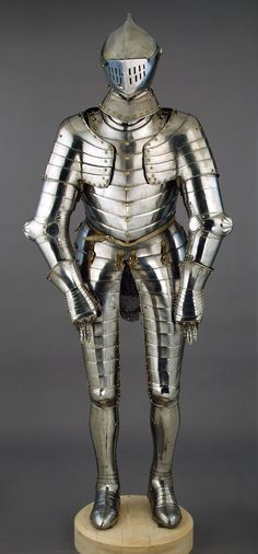 Armour, Place of creation: Germany Date: Circa 1590 School: Augsburg Material: steel and copper Technique: forged and chased.