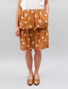 A Detacher Stella Flounce Skirt- Honey