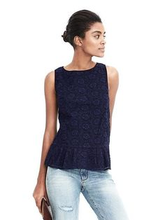 """SF Stylist: Like this """"peplum"""". It looks a little more relaxed rather than structured w/more flounce on the bottom. Nice color, too!"""