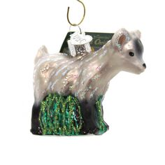 Pygmy Goat Glass Ornament