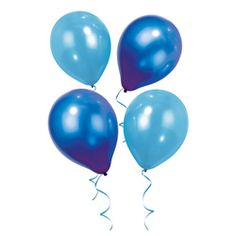 Talking Tables - 12x Blue Balloons 12 balloons in 2 different shades of blue.