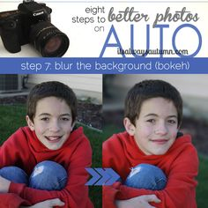 8 steps to better photos on AUTO {step 7: blur the background} ~   http://www.itsalwaysautumn.com