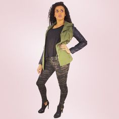 Total look army  #ootd #zonedachat #look #army #militaire #inked #girl #slim #veste #classe #fashion #tattoo #simili