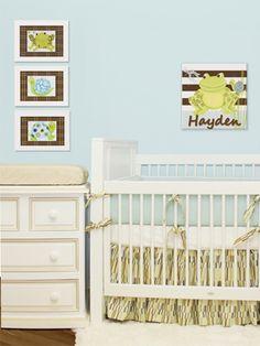 I love the frogs! So cute! Baby Boy Nurseries - Nursery Ideas - Slideshow