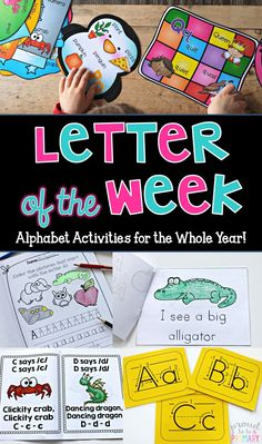Proud to be Primary: Teach a letter of the Week with this 225 page unit full of phonics and alphabet activities for the whole year! Every letter is included for each activity, including letter posters, handwriting/printing posters, mini-books, write the room, alphabet jive book, and more!