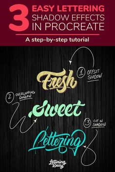 In this video tutorial, I will be teaching you 3 different methods on how to create a shadow effect for your lettering using the Procreate app. This is an easy to follow, step by step tutorial that is suited even for beginners. If you are interested in learning how to spice up your iPad lettering/calligraphy, you've definitely landed on the right video! #iPadlettering #procreatelettering #calligraphy #handlettering #letteringtutorial Calligraphy For Beginners, Calligraphy Tutorial, Hand Lettering Tutorial, Chalk Lettering, Watercolor Lettering, Brush Lettering, Shadowing Letters, Pretty Fonts Alphabet, Different Lettering