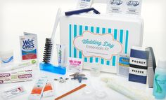 """Groupon - $ 19.99 for a 35+ Piece Wedding Day Essentials Kit ($ 36 List Price). Free Shipping.. Groupon deal price: $19.99 hahaha this is like a mini """"what your see in the ladies room at some weddings"""""""