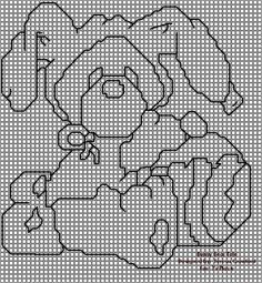 Plastic canvas Easter Bunny outline pattern #2