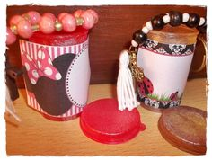 Siempre reciclando... souvenirs personalizados para todos los gustos... los podes ver en: https://www.facebook.com/dassha.bijou?ref=hl
