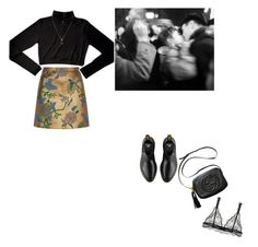 """""""🐧"""" by lucielux ❤ liked on Polyvore featuring River Island, Chassè, Dr. Martens, Gucci, GetTheLook, floral, black and tuttut"""