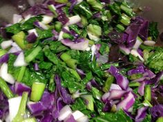 Red cabbage, fava greens, baby turnips with miso