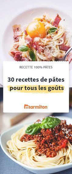 Pour changer des pâtes au beurre, testez notre sélection de recettes de pâtes #marmiton #recettespates #pates #carbonara #bolognaise #recette