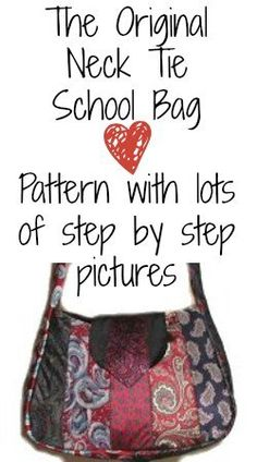 Neck Tie School Bag- borsa con cravatte- TUTORIAL